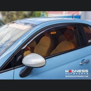 """FIAT 500 Side Window Air Deflectors - """"mini"""""""
